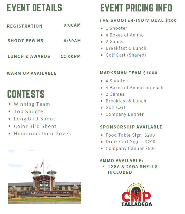 clay shoot event details